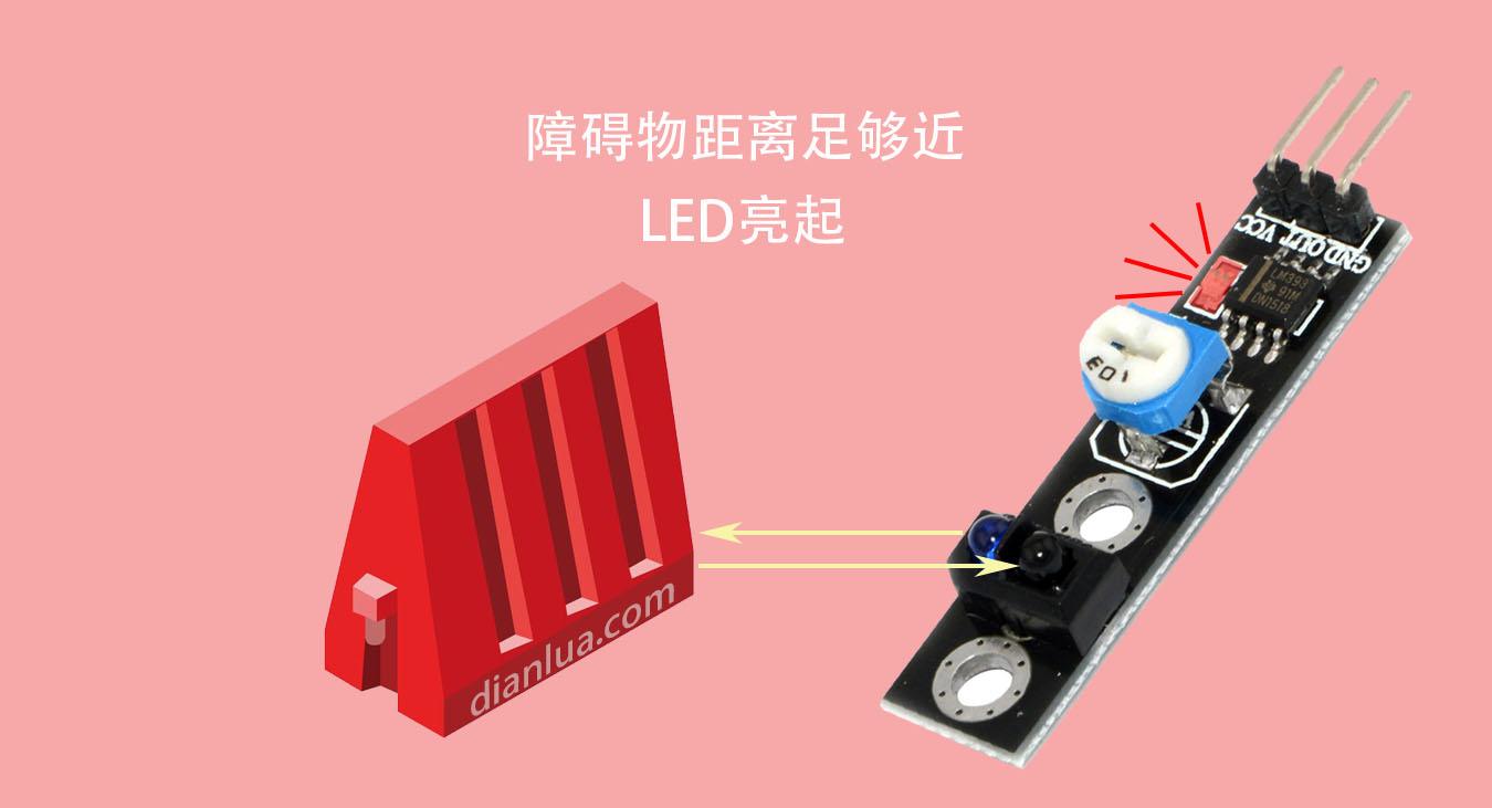 红外线靠近检测电路