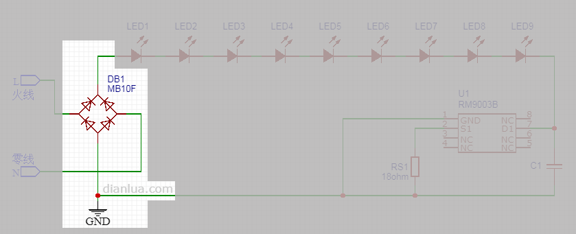 LED灯泡:超低成本的LED恒流驱动电路