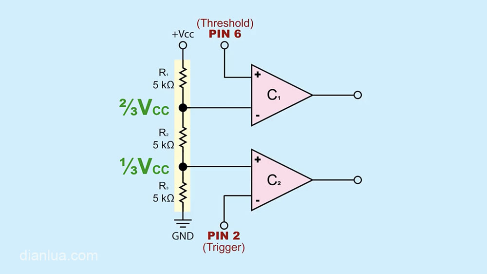 555定时器芯片内部电路分析
