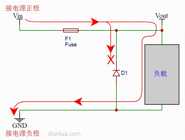 漫谈二极管防电源反接电路