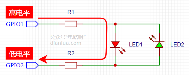 用3个IO口控制6个LED灯,怎么做到的?查理复用!