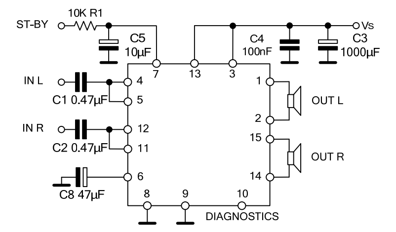 用TDA7377做一款立体声功放